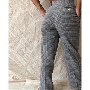 [Vintage] Black White Checkered High Waisted Pants